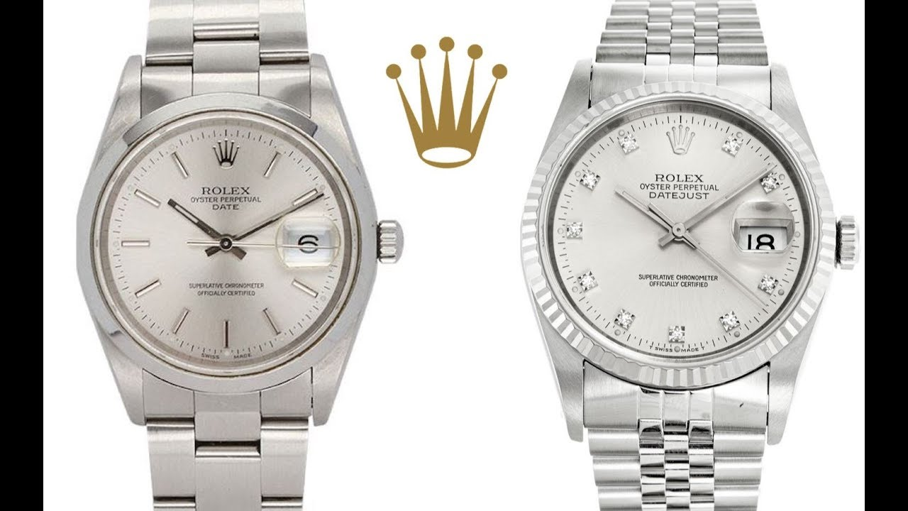 What's The Difference?: Rolex Datejust Vs. Rolex Oyster ...