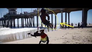 Сальто под музыку (2018)💪. Акробатическое сальто.💪Паркур на пляже.💪Музыка
