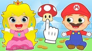 BEBES ALEX Y LILY 💥 Lily se disfraza de Princesa Peach de Mario Bros| Dibujos animados educativos