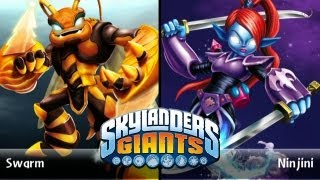 SKYLANDERS GIANTS - Swarm VS. Ninjini (VERSUS)