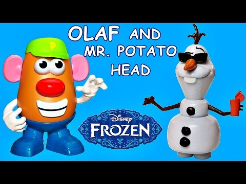 DISNEY FROZEN Switch'em Up Olaf Doll + Mr. Potato Head Mix and Match | Fun FROZEN Mashup Video