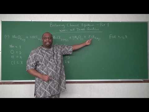 Balancing Chemical Reactions - Part 1 - WAEC and JAMB Questions