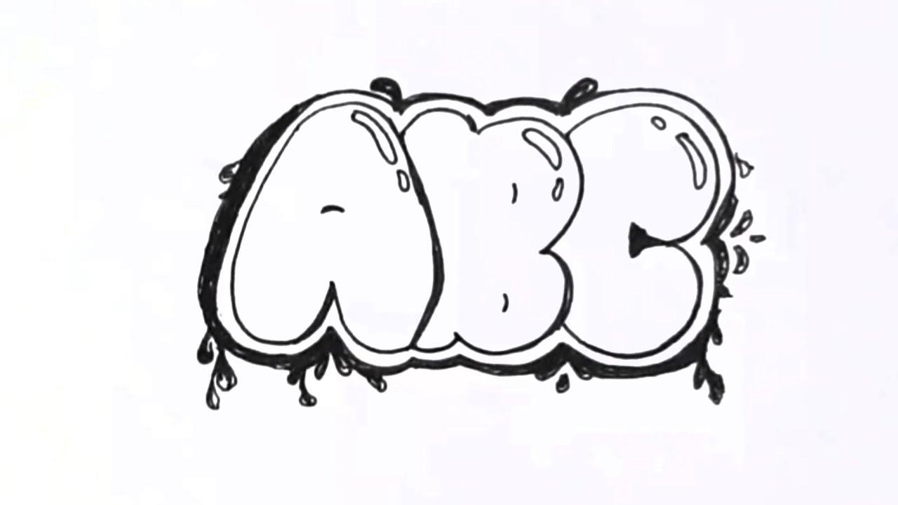Contoh Tulisan Graffiti Paling Mudah Untuk Pemula Youtube