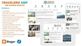 Travelord AMP Blogger Template