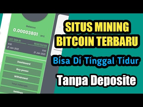 Bitcoin Cloud Mining Terbaru ! Situs Mining Btc Terbaru 2021 ! Bisa Ditinggal Tidur