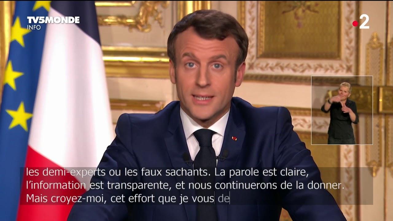 """? Covid-19 - """"Nous sommes en guerre"""", allocution d'Emmanuel Macron sur l'épidémi"""