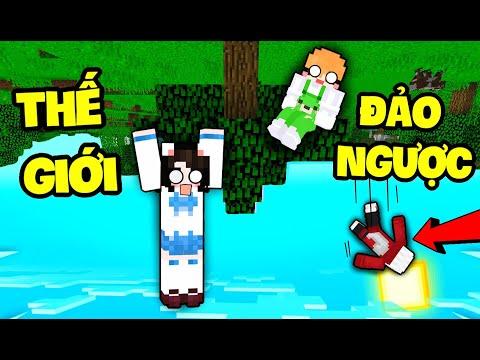 """Mèo Simmy Thử Thách 1 ngày Chơi Minecraft """"Đảo Ngược"""" Cực Khó Cùng HERO TEAM"""