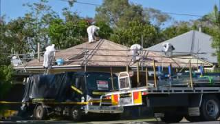 Asbestos Roof House renos time lapse