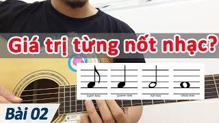Bài 02: Giá trị các nốt nhạc | Nhạc lý cơ bản ứng dụng dành cho guitar | học đàn guitar cơ bản