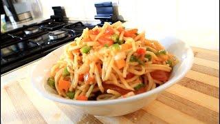 Home Made Spaghetti Salad Summer Time Salad
