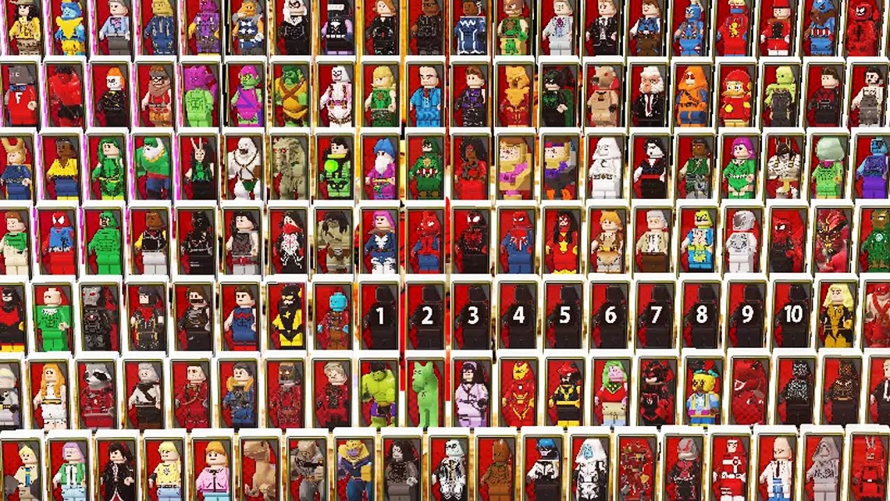 All Characters in LEGO Marvel Superheroes 2