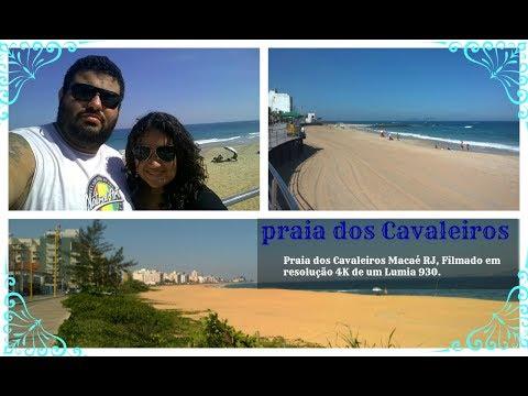Praia dos Cavaleiros Macaé RJ, Filmado em resolução 4K de um Lumia 930.
