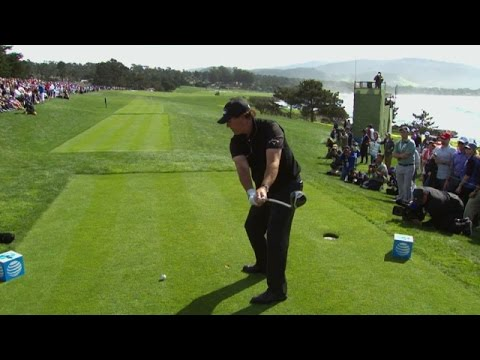 Phil Mickelson's slo-mo tee shot is analyzed at AT&T Pebble Beach