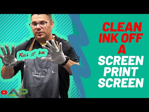 How to Clean Screen Print Ink | Screen Printing for beginners Clean Ink With Press Wash DIY Tutorial