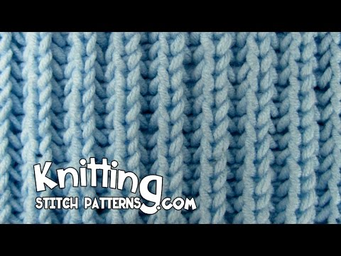 Knit Fishermans Rib stitch & How to Bind off - YouTube