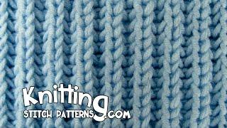 Knit Fisherman's Rib stitch & How to Bind off