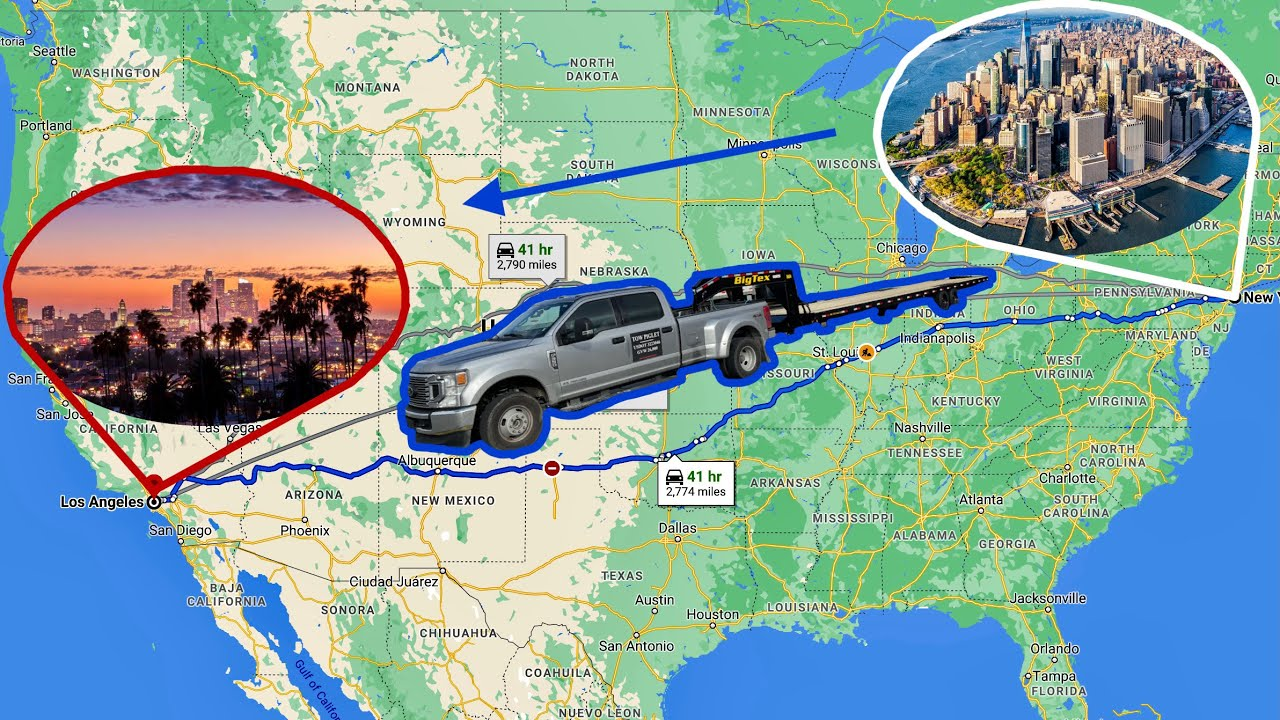 How to drive for NYC to LA in a WEEKEND (legally)