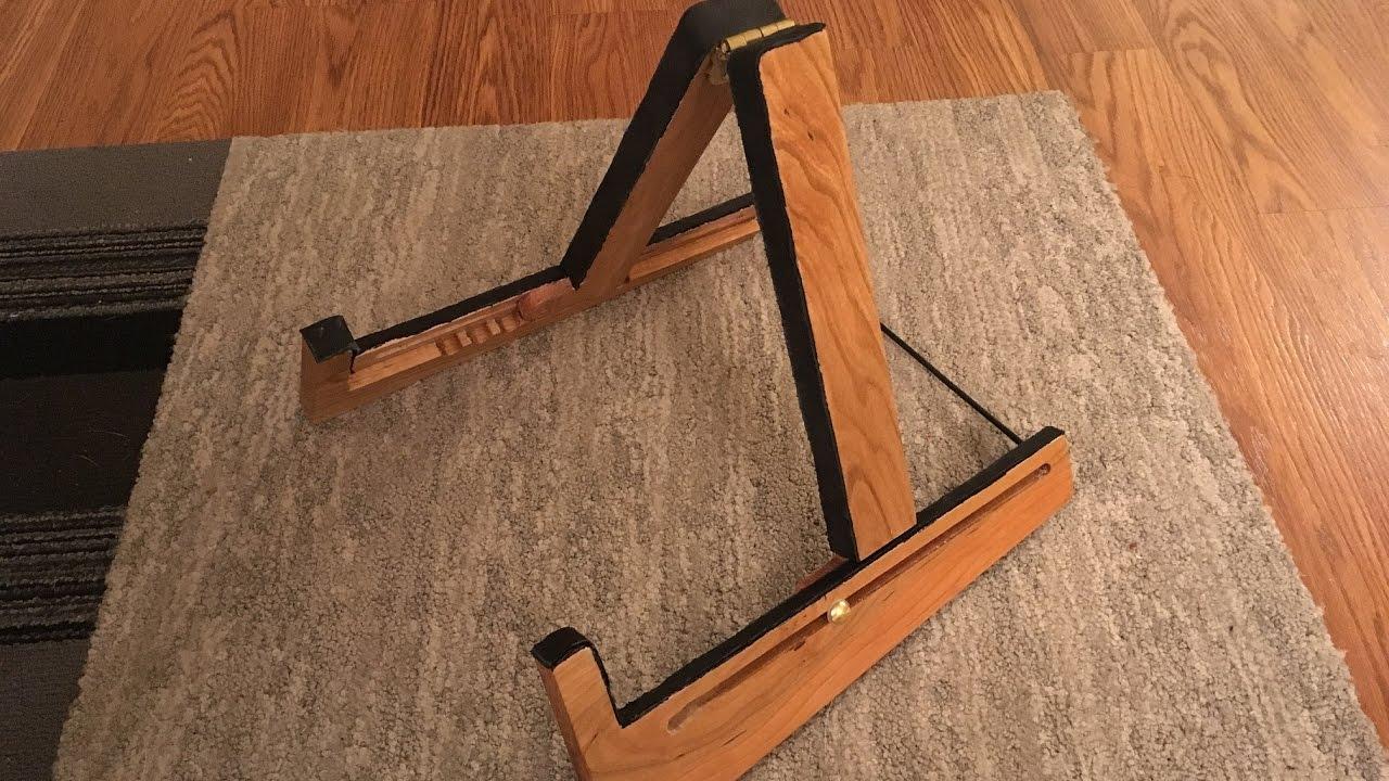 adjustable guitar stand cnc router project youtube. Black Bedroom Furniture Sets. Home Design Ideas