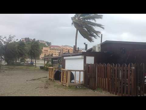 Hurricane Irma Impacts the Strip In St.Kitts