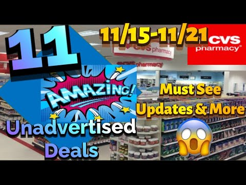 Cvs 11 Unadvertised Deals 11/15-11/21|🚨New Printable Coupons🚨Moneymakers|Updates & More