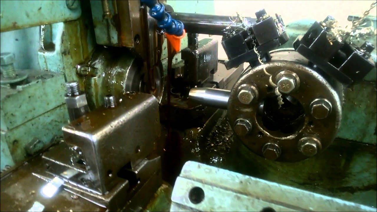 Brown and sharp automatic screw machine running youtube