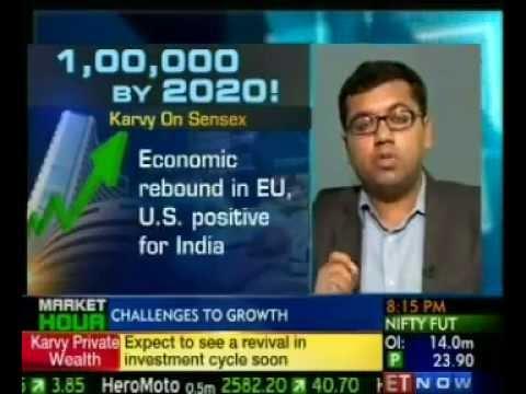 Sensex to hit 1,00,000- Varun Goel From Karvy to ET NOW