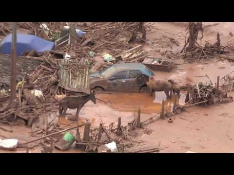 Dam rupture in Brumadinho, Brazil leaves 300 missing
