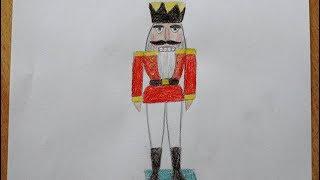Nussknacker zeichnen - how to draw a Nutcracker soldier - как нарисовать щелкунчика