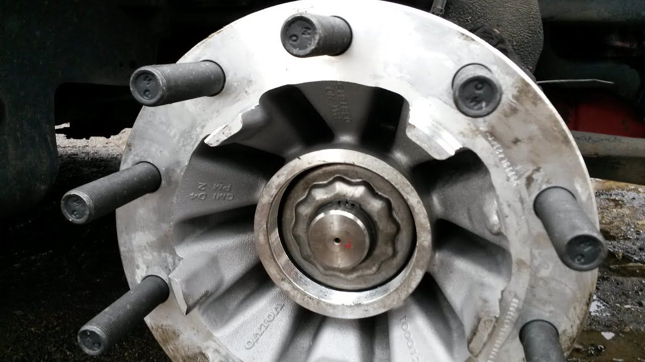 Mack Rear Hub : How to replace steer axle hub on the youtube