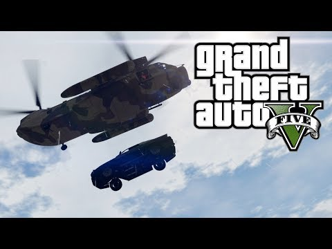 GTA 5: Cargobob Car Drop Attempts on Randoms! (Online - Comedy Gaming)