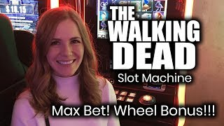 Walking dead original slot machine! wheel bonus!!!