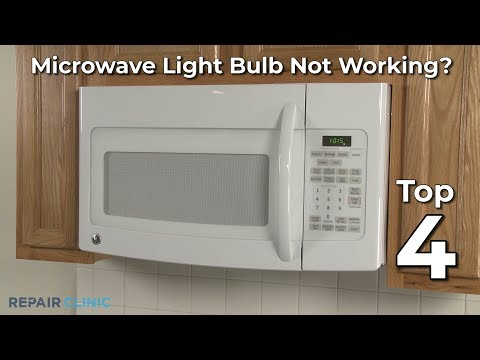 microwave light bulb not working