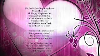 God Is Dwelling In My Heart with lyrics