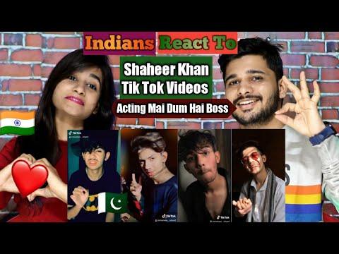 Indian Reaction On Best Of SHAHEER KHAN Tik Tok Videos | Best Acting Vidoes Of SHAHEER KHAN | M Bros