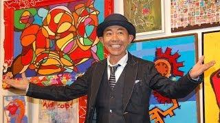 お笑いコンビ・とんねるずの木梨憲武が19日、東京・上野の森美術館で個...