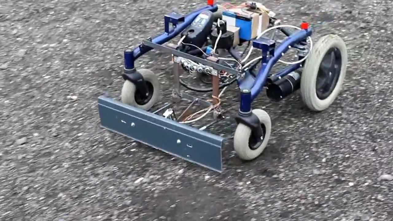 Cutflower tondeuse robot arduino premier essai