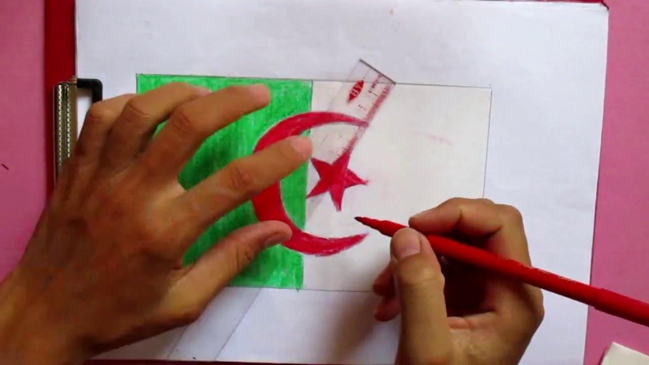 Drawing Algeria flag  YouTube