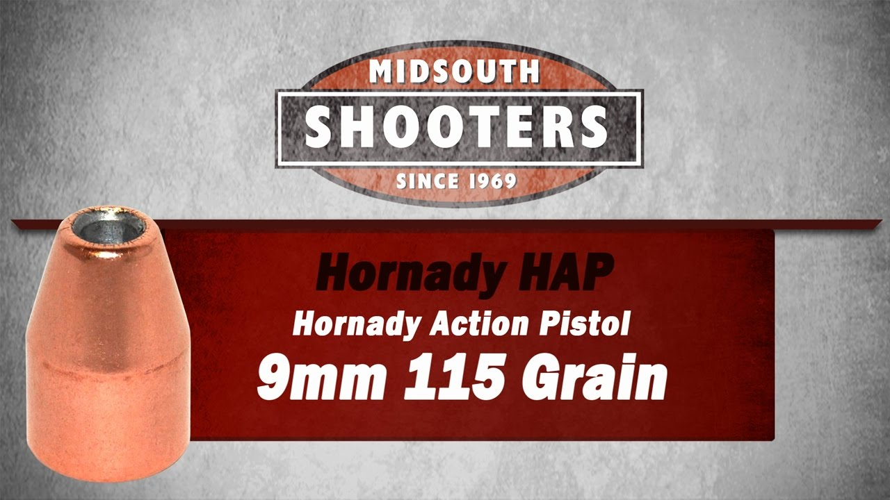 Midsouth Exclusive Hornady HAP 9mm Limited Time Offer