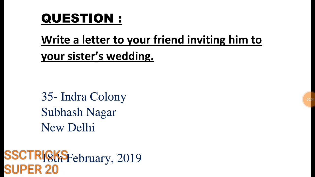 informal letter letter of invitation