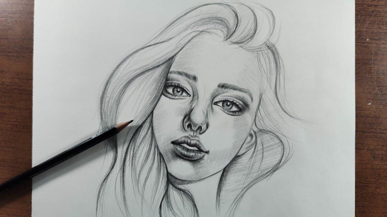 Cómo Dibujar Un Rostro De Mujer A Lápiz Paso A Paso Tutorial Youtube