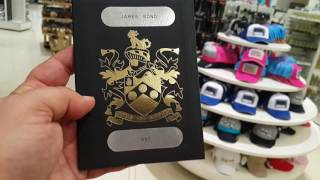 James Bond 007 Passport at Burj Khalifa in Dubai 01.12.2016