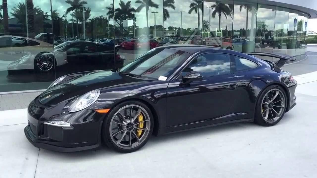 2014 basalt black porsche 911 gt3 475 hp porsche west broward