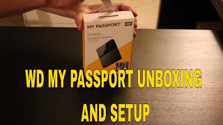 #westerndigital WD My Passport Portable External HDD Unboxing and setup