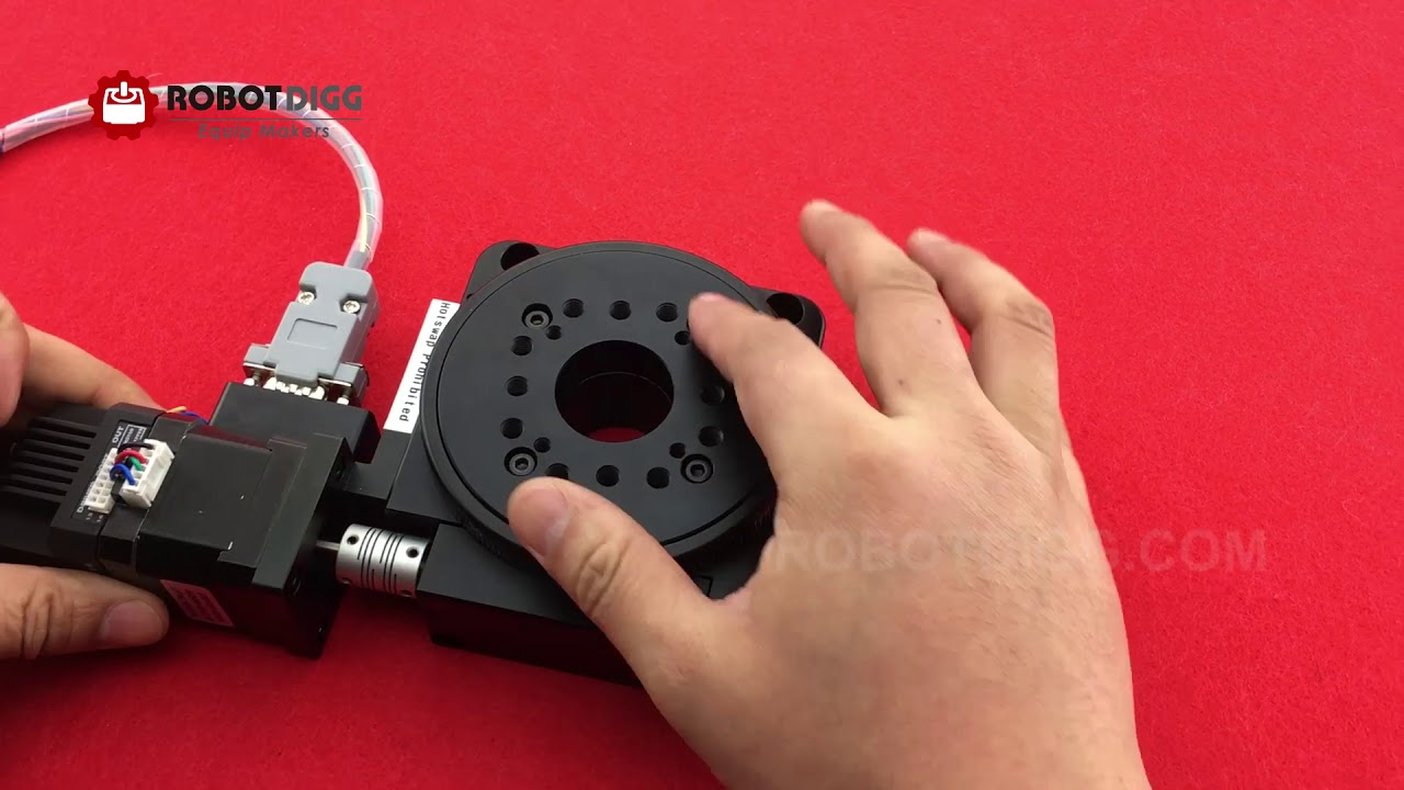 PT-GD201 203 and 204 Stepper Motorized Electric Rotary Table - RobotDigg