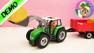costruzione di un grande trattore con rimorchio 6130 / Demo/ Playmobil Country: