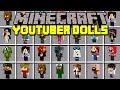 Minecraft YOUTUBER DOLLS MOD! | POPULARMMOS, DANTDM, PEWDIEPIE, SUPERGIRLYGAMER! | Modded Mini-Game