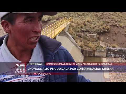 CHONGOS ALTO PERJUDICADA POR CONTAMINACIÓN MINERA