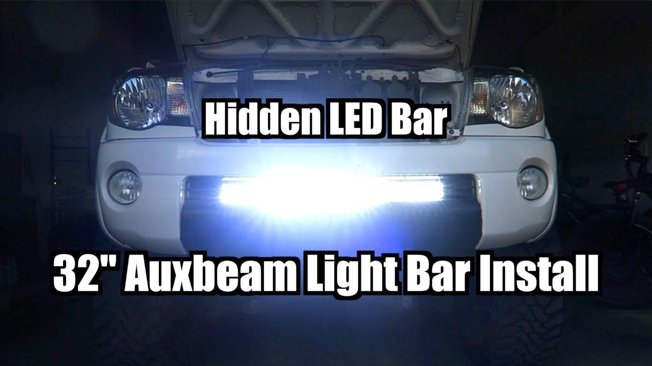 32 U0026quot  Auxbeam Hidden Light Bar Install On 2009 Tacoma