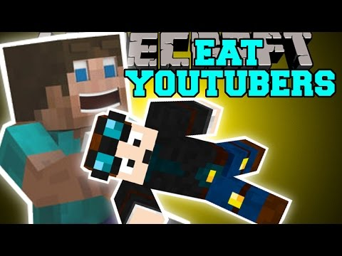 Minecraft: EAT YOUTUBERS MOD (THEDIAMONDMINECART, SKYDOESMINECRAFT, & SSUNDEE) Mod Showcase