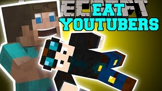 Minecraft: EAT YOUTUBERS MOD (THEDIAMONDMINECART, SKYDOESMINECRAFT, & SSUNDEE) Mod Showcase thumbnail